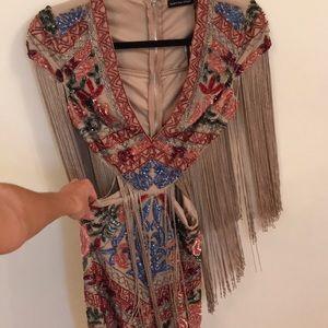 Nasty Gal Tassel Cut Out Mini Dress